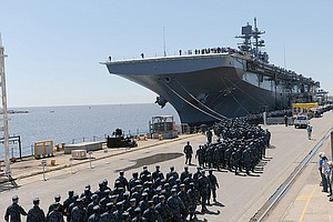 USS America Begins Two-Month Journey To Home Port San Die...