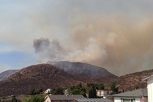 Tease photo for Brush Fire At Mission Trails Regional Park Kept To 95 Acres; Blaze 95% Contained