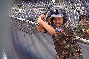 Tease photo for Children From Military Families Get To Be Padres For A Day