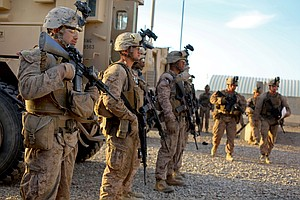 Camp Pendleton Marines Return Home As Afghanistan War Win...