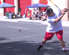 Labor Day Stickball On Little Italy Streets In San Diego