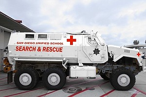 Tease photo for San Diego Unified: New MRAP Is Not A Tank