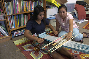 Young Refugees In City Heights Learn Weaving From Their E...