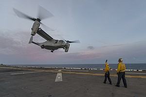 Tease photo for Search On For Missing Aircrew Member From San Diego-Based USS Makin Island