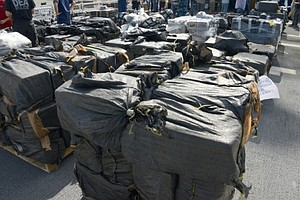 Tease photo for What Does 28K Pounds Of Cocaine Look Like? Coast Guard Shows Off Seized Drugs (Video)