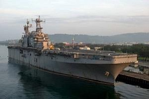 Tease photo for San Diego-Based USS Peleliu Must Stay In Philippine Port During Transgender Murder Investigation