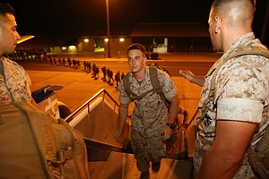 Marines And Sailors Return To Camp Pendleton After Deploy...