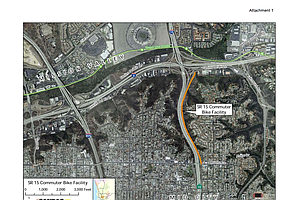SANDAG OKs Funds For $14.5M Bike Path Along I-15
