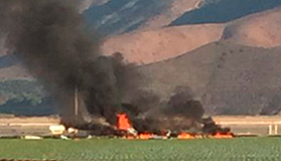 Tease photo for One Dead After Military Jet Crashes Near Port Hueneme (Video)