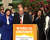 Brown Urges 'Yes' Vote On Water Bond, Rainy Day Fund At San Diego Stop
