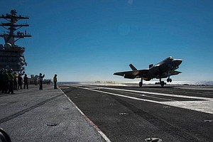 Navy Completes First F-35C Carrier Landings Off San Diego...