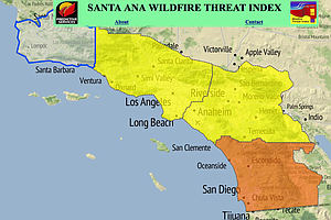 Severe Fire Warning For San Diego Valleys, Mountains Thro...