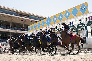 Tease photo for New Fall Horse Racing Season Begins At Del Mar Racetrack
