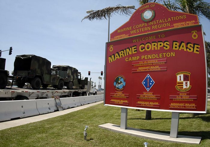electrical substation fire puts portions of camp pendleton