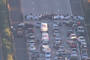 Tease photo for San Diegans Protest Ferguson Decision, Briefly Block Interstate 5 North