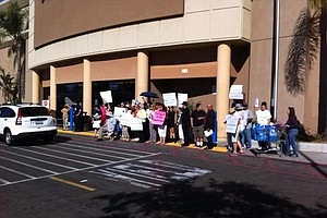 San Diego Joins National Black Friday Protest At Local Wa...
