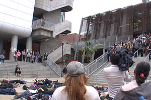 City College Students Walk Out To Protest Ferguson Decision