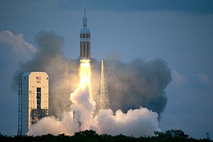 Tease photo for NASA's Orion Splashes Down After Historic Test Flight