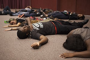 Tease photo for 'I Can't Breathe' Protesters Stage Die-In At San Diego City Council Inauguration