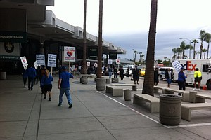 Union Workers Protest Against Southwest At San Diego Airport