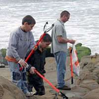 Tease photo for Volunteers Pick Up 10,500 Pounds of Litter At San Diego County Beaches