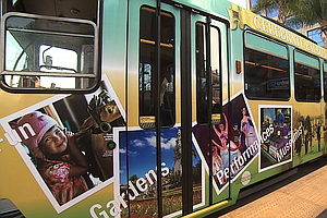 Trolley Gets Wrapped Up In Balboa Park Celebration