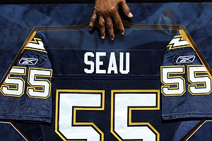 Sons Represent Late Junior Seau At Hall Of Fame Announcem...