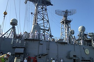 USS Vandegrift Decommissioned At Naval Base San Diego