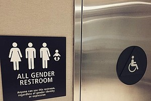 Tease photo for San Diego Airport Debuts Gender Neutral Restrooms