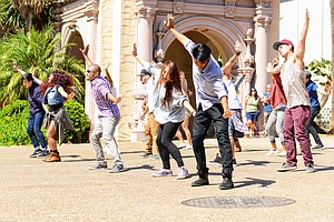 Balboa Park Made For A Beautiful Backdrop For Flash Mob P...