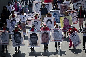 Protest Caravan Honoring Missing Mexican Students Comes T...