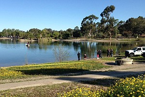 Divers Search For Missing San Diego State Student At Lake...