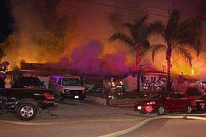 Tease photo for Fire Damages 2 Spring Valley Homes, Displaces Up To 10 Residents