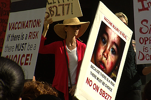Hundreds Protest Vaccine Exemptions Ban In San Diego