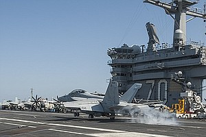 Tease photo for San Diego-Based USS Carl Vinson Prepares To Sail Home
