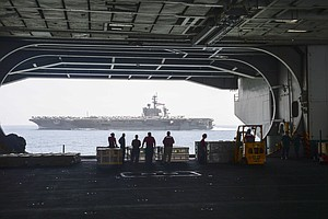 USS Carl Vinson Begins Journey Home To San Diego