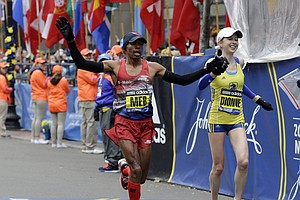 San Diego's Meb Keflezighi Finishes In Eighth Place In Bo...