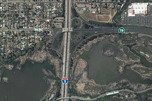 Interstate 5-Highway 78 Interchange In A Tough Spot