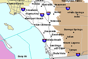 Gusty Winds, Light Rain Move Across San Diego