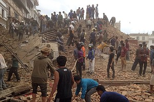 Tease photo for 1,400 Confirmed Dead In Nepal After Powerful Earthquake