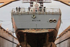 Tease photo for San Diego-Based USS Milius Sent To Protect Merchant Vessels
