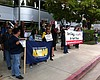 San Diego Protesters Urge Peters To Oppose Fast-Tracking ...