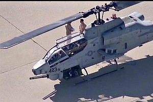 Tease photo for Camp Pendleton-Based Helicopter Makes Emergency Landing In Los Angeles County