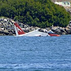 The pilot of the T-45 Goshawk ejected before the plane hit the water shortly after 2:30 p.m. Friday, the Navy reported. A civilian boat rescued the pilot.