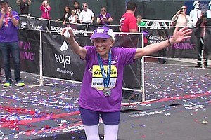Tease photo for  92-Year-Old Woman Sets World Record By Completing Rock 'n' Roll Marathon