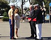 Peralta Family Accepts Navy Cross For Their Late Son At Camp Pendleton