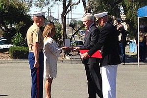 Tease photo for Peralta Family Accepts Navy Cross For Their Late Son At Camp Pendleton