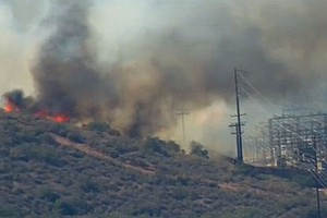 Crews Fully Contain Brush Fire Near Spring Valley