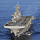 The unidentified sailor collapsed and died Monday while the ship was conducting routine operations in the Middle East.