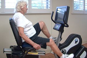 Tease photo for Chula Vista Senior Pumps Pedals To National Stationary Bike Record